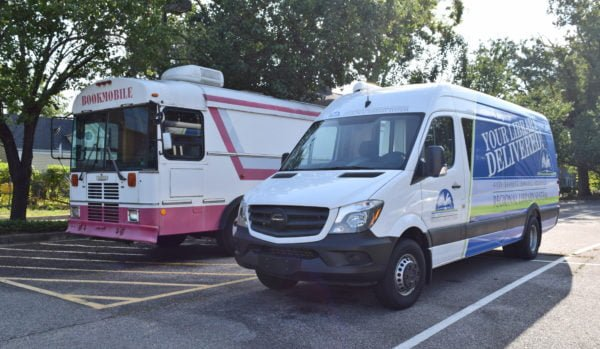 new and old bookmobiles