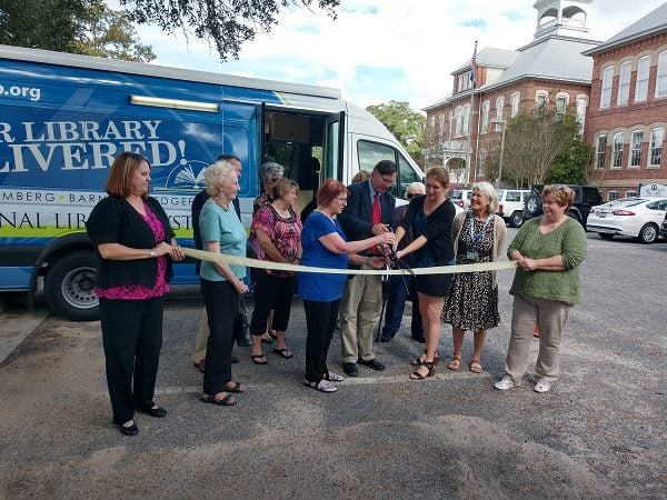Ribbon Cutting for Bookmobile